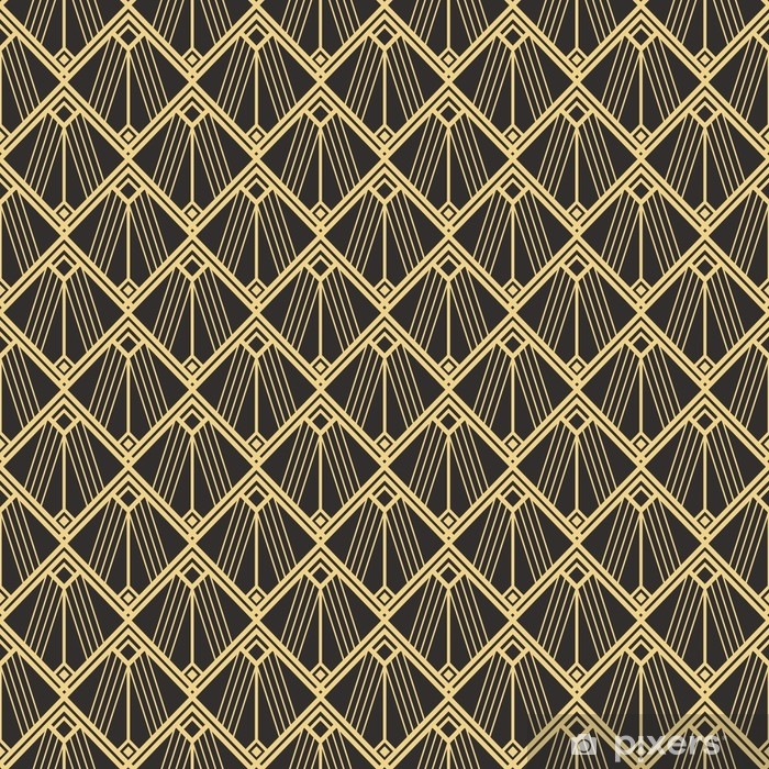 Abstract art deco seamless modern tiles pattern Vinyl Wall Mural - Graphic Resources