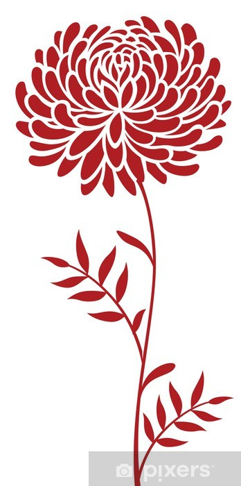 Vinyl Fotobehang Daisy bloempatroon - Bloemen