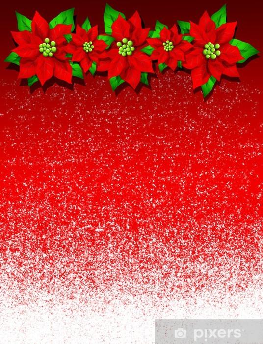 Image Fleur Noel.Stella Di Natale Christmas Poinsettia Card Fleur Noel Carte 2 Wall Mural Vinyl