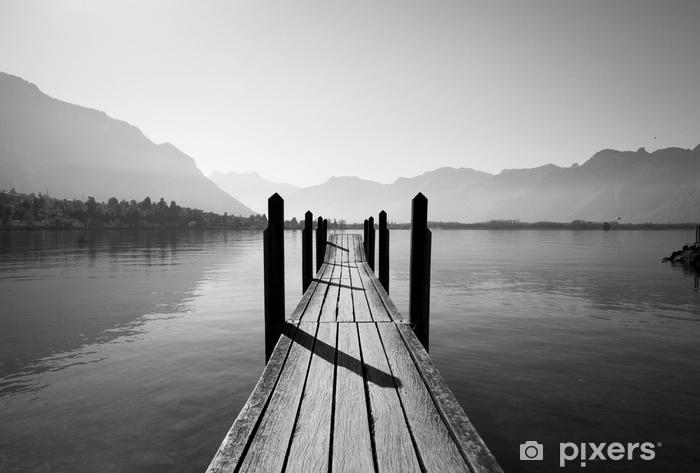Legno Bianco E Nero : Carta da parati ponte di legno bianco e nero u pixers viviamo
