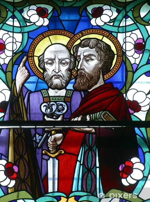 Fototapeta winylowa Witraże św Piotra i św. Paul - Budynki użyteczności publicznej