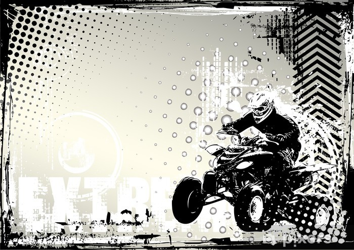 Fototapeta winylowa Motorsport grunge -