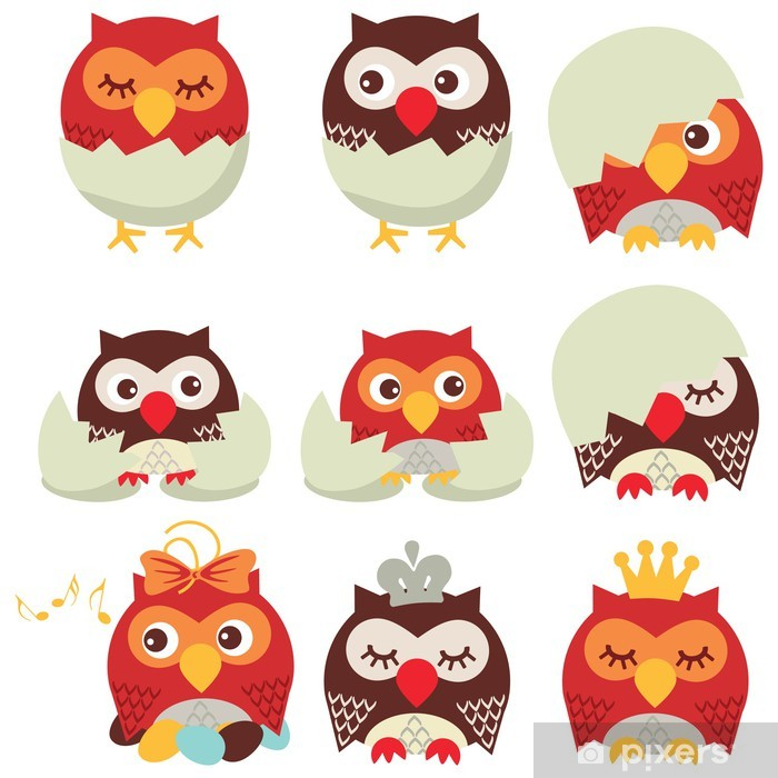 Sticker Pixerstick Hibou - Thèmes