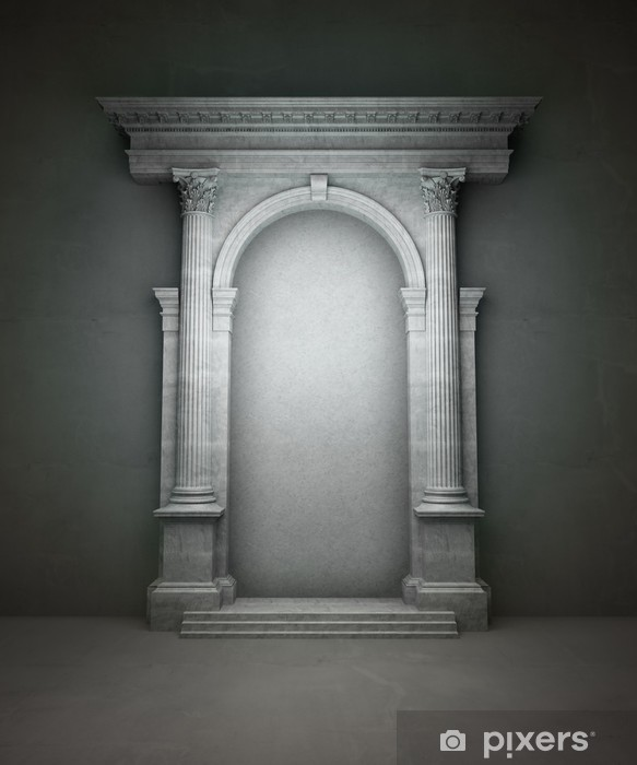 Naklejka Pixerstick Klasyczny portal korynckie kolumny i arkady - Zabytki