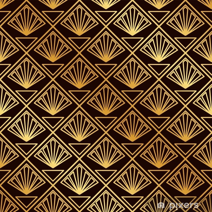 Vintage Seamless Art Deco Pattern Template For Design