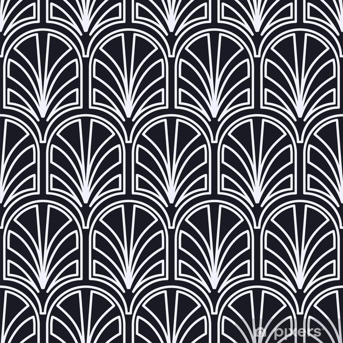 Vintage seamless art deco pattern. Template for design. Vector illustration Vinyl Wall Mural - Graphic Resources