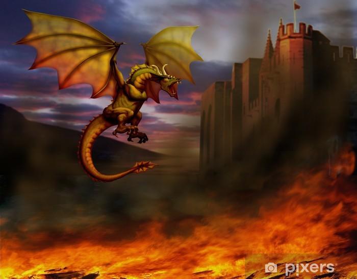 Papier peint vinyle Dragon - Dragons