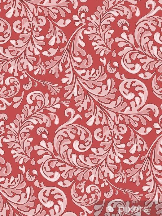 Naklejka Pixerstick Powtarzalne rocznika wzór tapety - Style