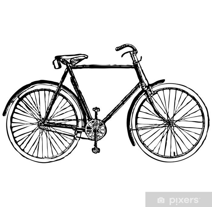Carta Da Parati In Vinile Vecchio Classico Bicicletta Illustrazione Vettoriale
