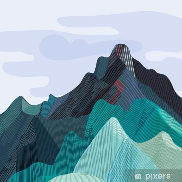 Vuoristo, vuoristoinen massiivinen Pixerstick tarra - Maisemat