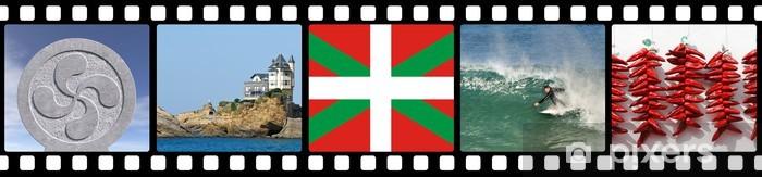 Naklejka Pixerstick Przezroczy z Kraju Basków - Wakacje
