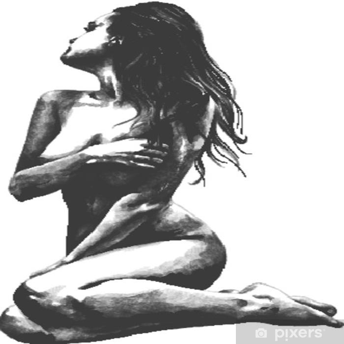 černá nahá dívka