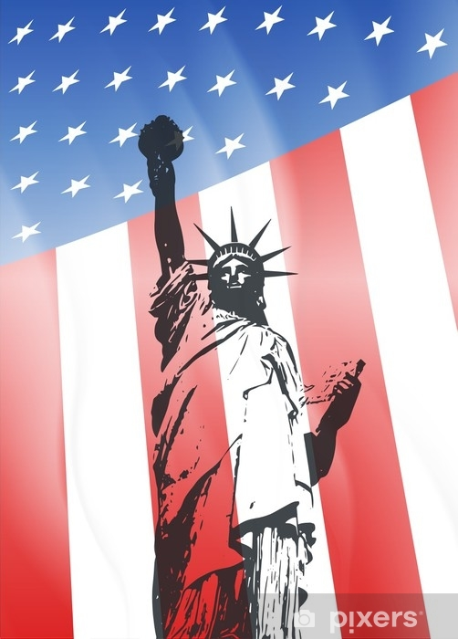 New York and American symbol Vinyl Wall Mural - Travel
