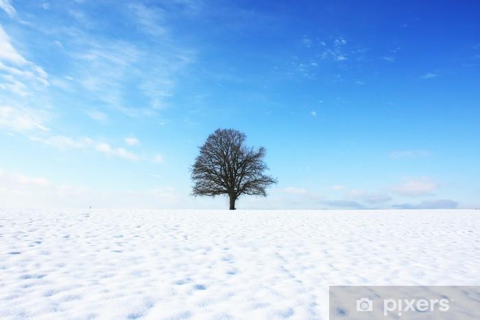 Sticker Pixerstick Paysage de neige - Saisons