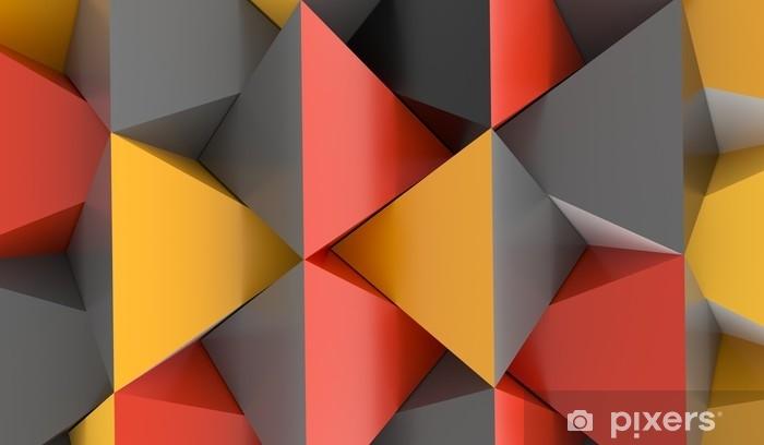 Alfombrilla de baño Representación 3D de un fondo abstracto de la pirámide con colores rojos y grises anaranjados - Recursos gráficos