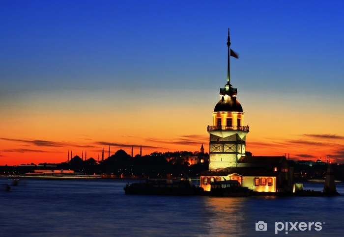 The Maiden's Tower in Istanbul Pixerstick Sticker - Monuments