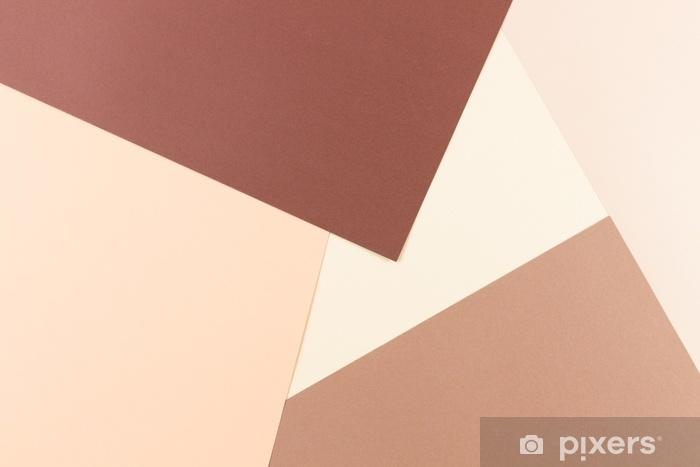 Kendinden Yapışkanlı Duvar Resmi Renkli pastel yumuşak kahverengi ve bej renkli kağıt arka plan. - Grafik kaynakları