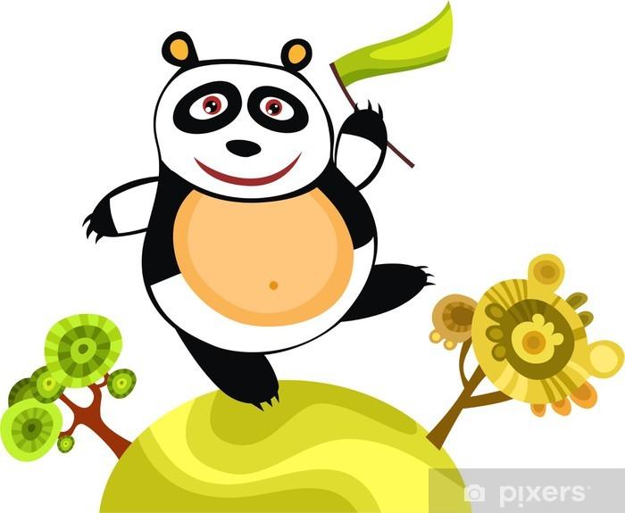 Naklejka Pixerstick Panda - Wakacje