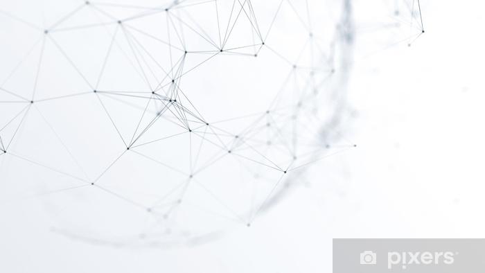 Pixerstick-klistremerke Abstrakt futuristisk nettverk på bakgrunns illustrasjon - Teknoligi
