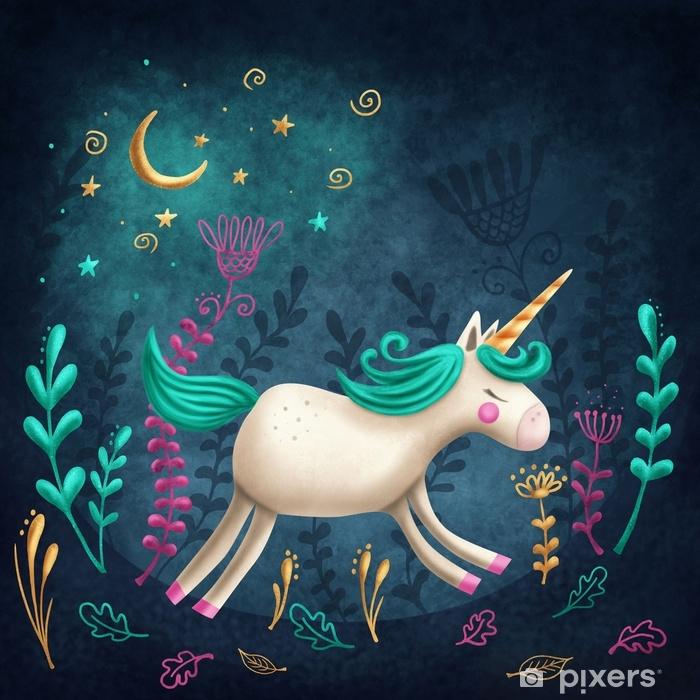 Carta da Parati in Vinile Piccolo unicorno - Animali