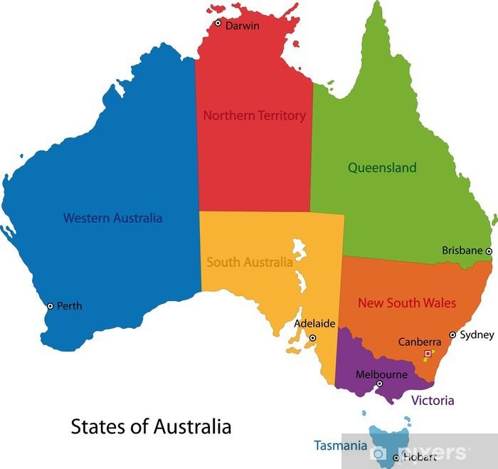 Varikas Australia Kartta Juliste Pixers Elamme Muutoksille