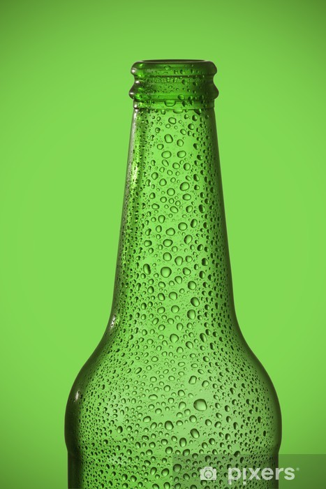 Fototapeta winylowa Zielona butelka piwa - Tematy