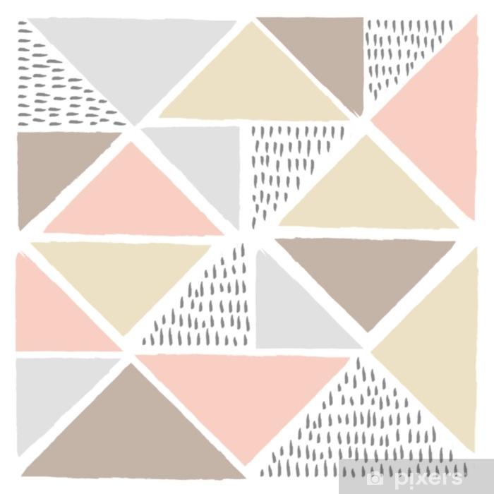 Pixerstick Sticker Vector abstracte Scandinavische stijl achtergrond. moderne en stijlvolle abstracte ontwerp poster, dekking, kaart design.illustration voor uw ontwerp. - Grafische Bronnen
