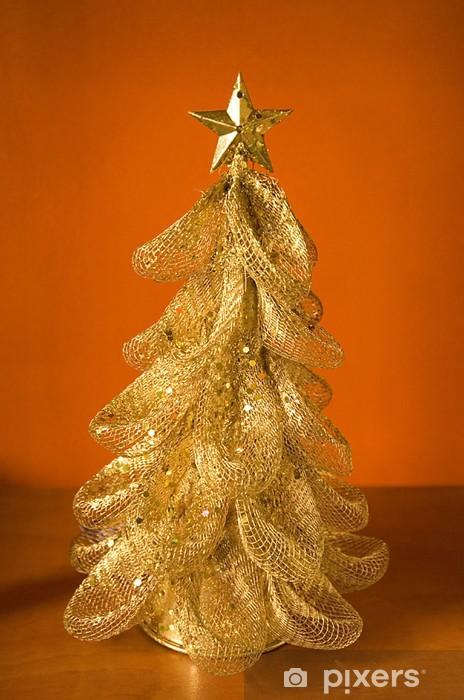 Vinylová fototapeta Gold Christmas Tree - Vinylová fototapeta