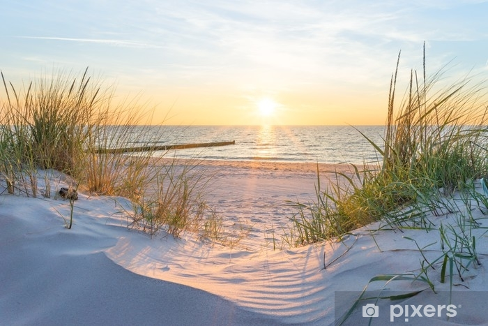 Fototapete Sonnenuntergang an der Ostsee