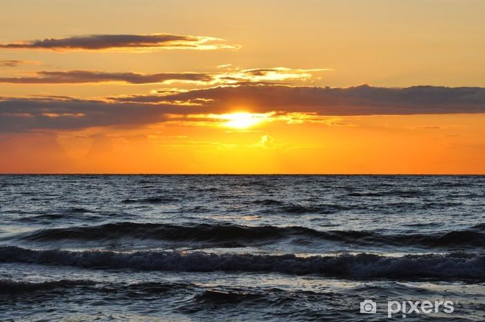 Nálepka Pixerstick Západ slunce na moři - Nebe