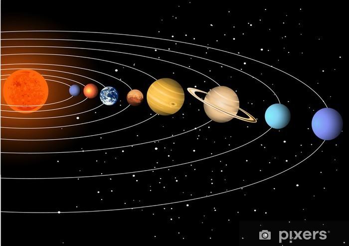 Naklejka Pixerstick Układ Słoneczny - Przestrzeń kosmiczna