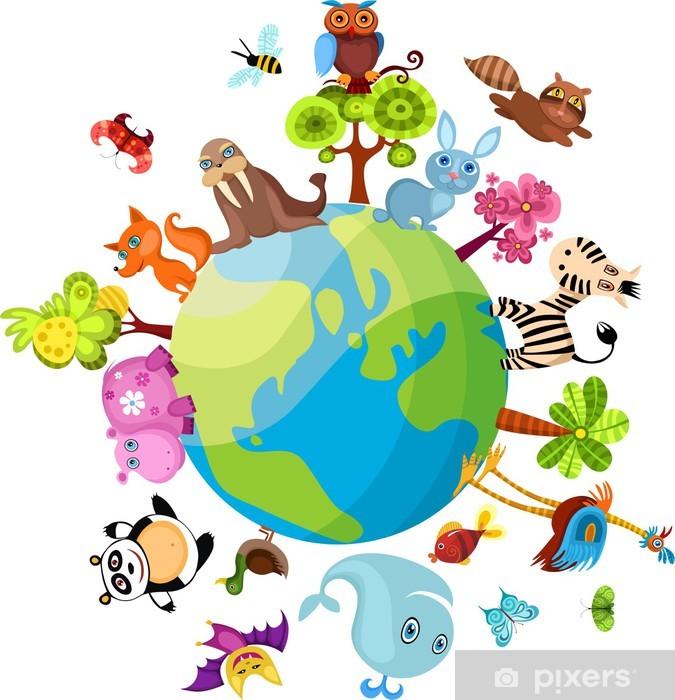Sticker Pixerstick Planète animaux - Mammifères