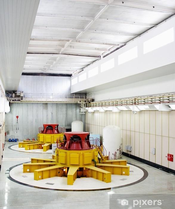 Nálepka Pixerstick Vodní turbíny generátory - Aplikované a přírodní vědy