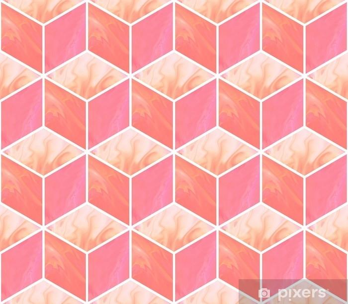 Sticker Cubes 3d Modele Sans Couture Abstrait Avec Des Textures De