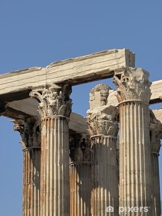 Vinyl Fotobehang Griechenland - Athen, Olympieion, Tempel des Olympischen Zeus - Europese steden