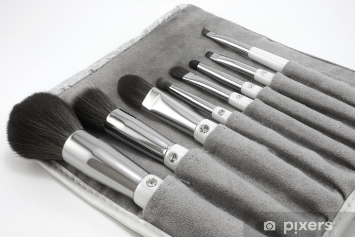 Papier peint vinyle Pinceaux de maquillage, jeu de 8 avec étui de transport - Mode