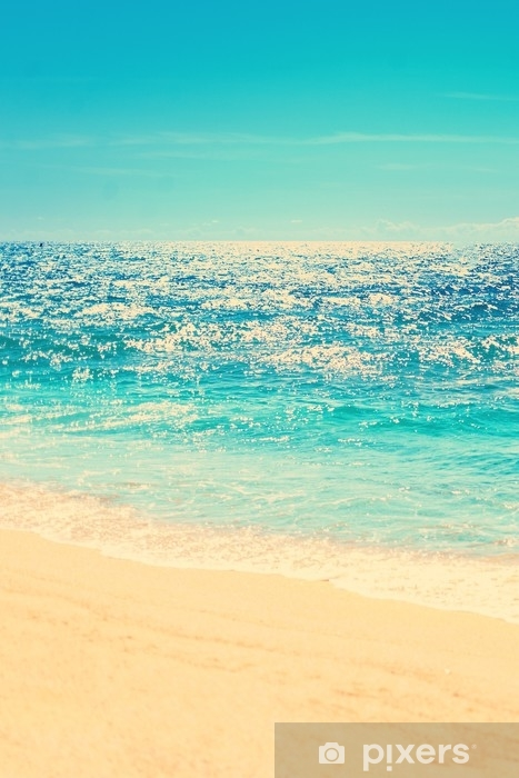 Carta Da Parati Spiaggia Estiva E Sfondo Onda Morbida Sabbia E Mare