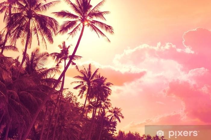 Fotomural Estándar Palmeras tropicales al atardecer - Paisajes