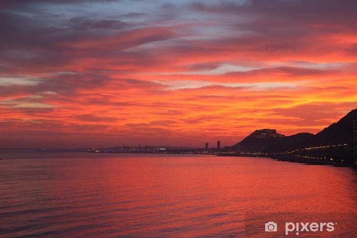Fototapeta winylowa Red Sunset - Europa