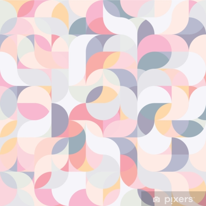 Abstract vector colorful geometric harmonic wave background Self-Adhesive Wall Mural - Graphic Resources
