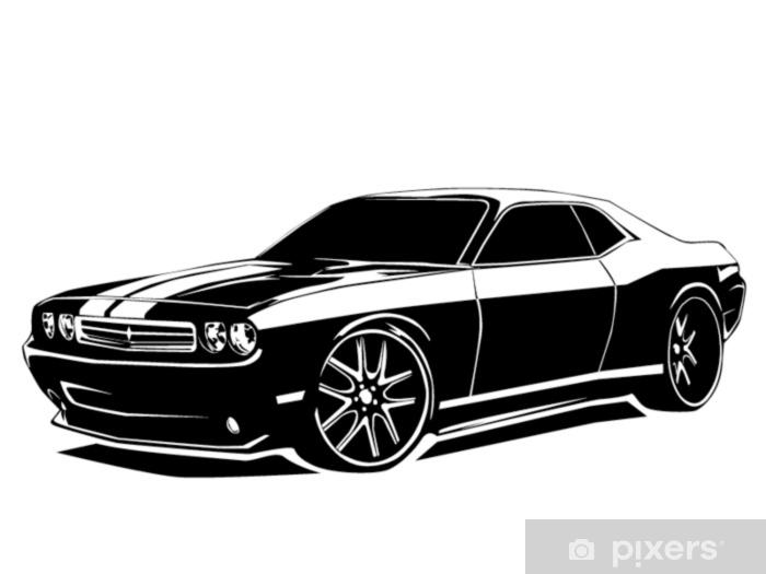 Papier peint vinyle Muscle car moderne - Transports