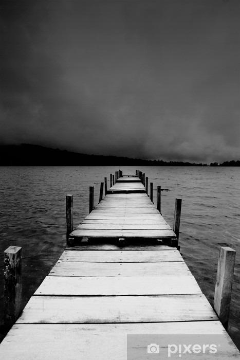jetty view in black & white Pixerstick Sticker - iStaging