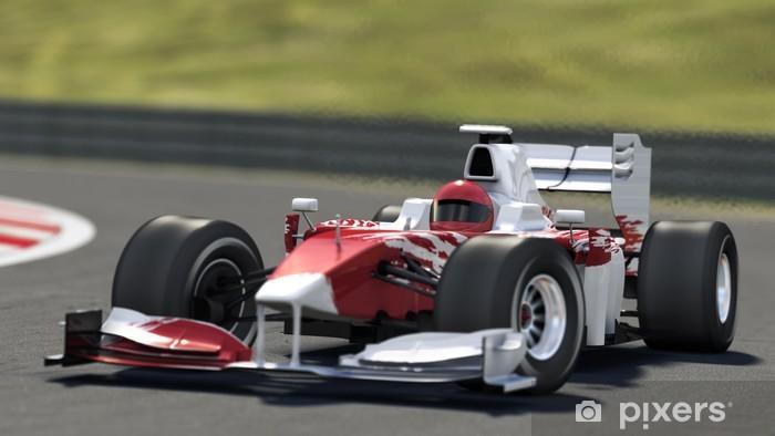 Papier peint vinyle Voiture de course Formule Un. - Thèmes