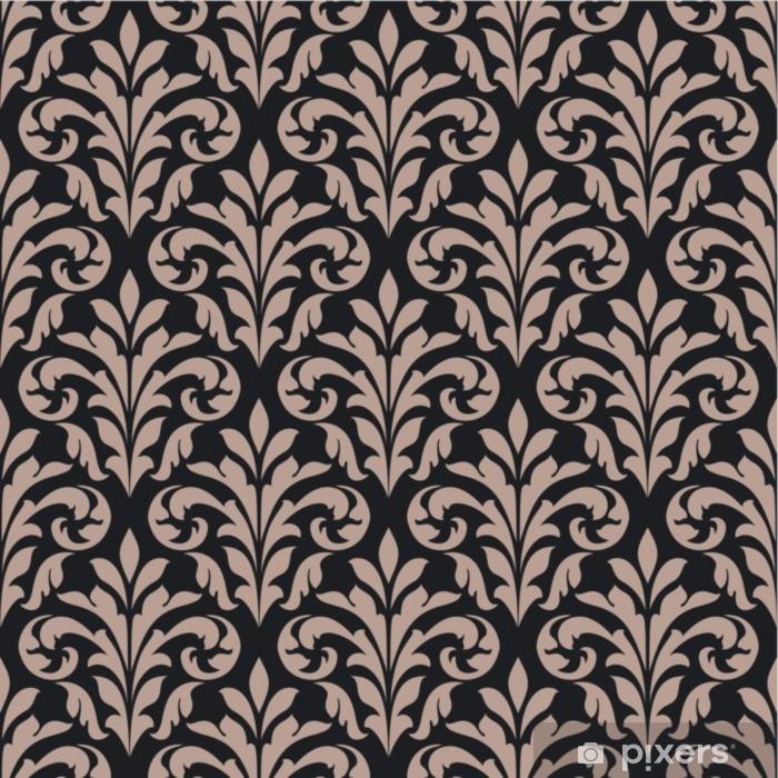 Alfombrilla de baño Vintage de patrones sin fisuras - Plantas y flores