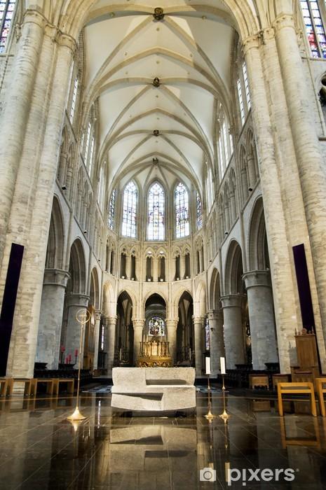 Naklejka Pixerstick Wnętrze św Michała i Guduli - Miasta europejskie