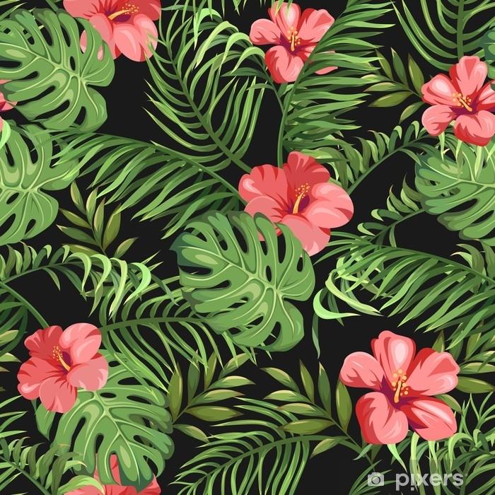 Fototapete Tropischen Exotischen Blumen Und 14