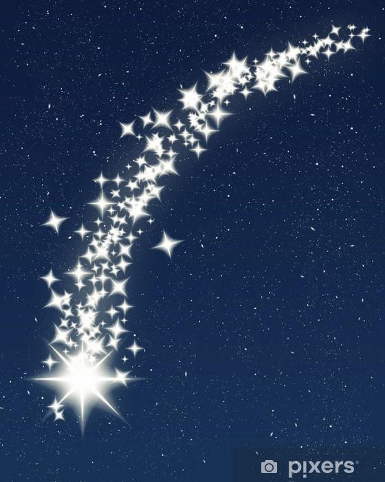 Sticker Pixerstick Noël souhaitant l'étoile filante - Ciel