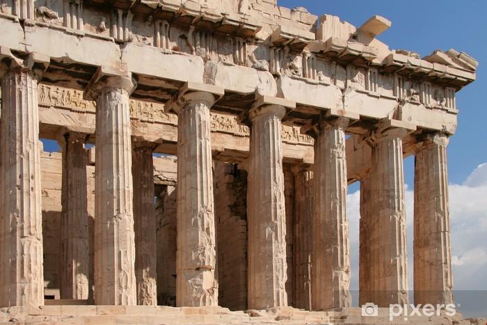 Vinyl-Fototapete Athen Sehenswürdigkeiten - Parthenon - Denkmäler