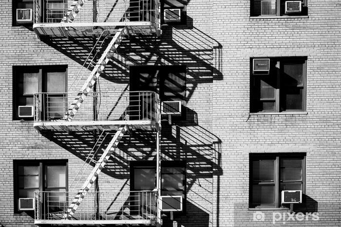 fire escape New York Pixerstick Sticker - Buildings and Architecture
