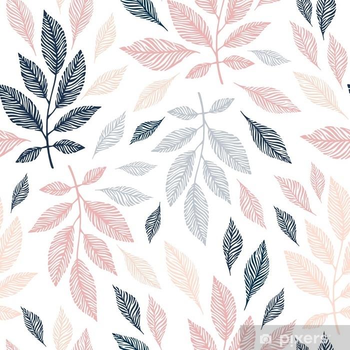 Fototapeta samoprzylepna Wzór z ręcznie rysowane oddziałów. - Rośliny i kwiaty